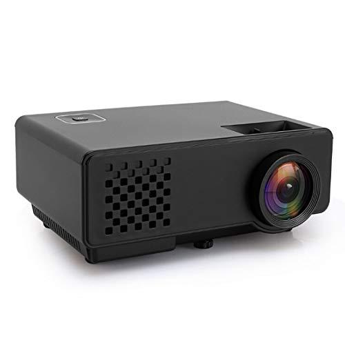 Heimkino tragbar Projektor RD-810 800 * 768 1200 Lumen Mini-LED-Projektor HD Heimkino mit Fernbedienung, Unterstützung USB + VGA + HDMI + AV (Schwarz) (Color : Black)