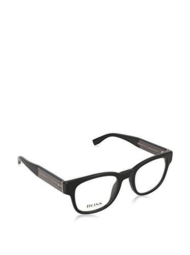 Hugo Boss BO-0204-7XL-17-54-17-140 Orange Brillengestelle BO-0204-7XL-17-54-17-140 Rechteckig Brillengestelle 49, Schwarz