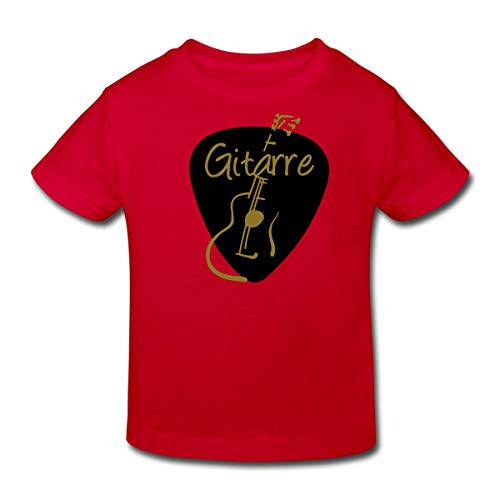 Plektrum Gitarrist Gitarre Kinder Bio-T-Shirt, 98-104, Rot