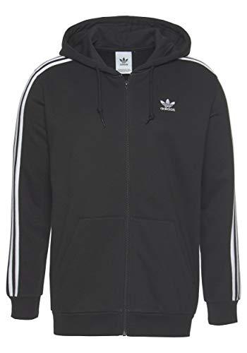 adidas 3 Stripes Full Zip Hoody (S, Black)