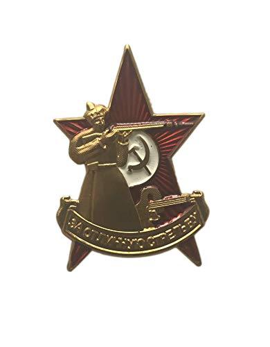 Ganwear® UdSSR Sowjetisch Russisch Mini Order Excellent Shooting Sniper Award Anstecknadel