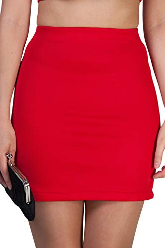 Marc Olivier Women's Mini Skirt - a Bodycon Black Pencil Skirt That is Short/Micro with an Elasticated Waist. Ladies Lycra Tube Skirt That is Tight. Also in Cream, Red and Blue