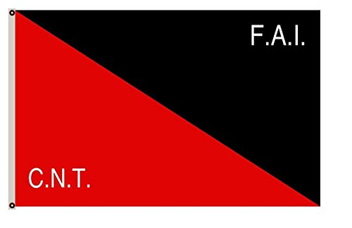 Large Flag CNT-FAI Rossonera utilizzata Dalla federaciòn anarquista iberica Flag