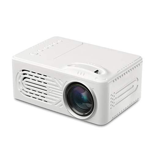 Proyector LED, inalámbrico WiFi multipantalla, proyector de películas portátil con 20.000 horas de vida de la lámpara LED, compatible con HDMM, VGA, Tf, Av y Usb (Color: Blanco)