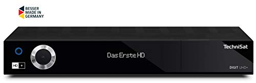 TechniSat Digit UHD+ 4K Receiver (mit Twin Tuner, Sat DVB-S/DVB-S2, Kabel DVB-C, DVB-T2 HD, Smart TV, App Steuerung, PVR Aufnahmefunktion, WLAN, LAN, CI+, USB 3.0, 6 Monate HD+) schwarz