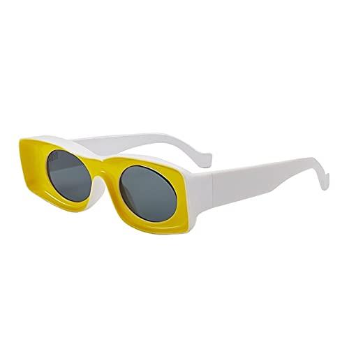AMFG Hip hop personalidad cóncava Gafas de sol Color de caramelo Gafas de sol europeas y americanas Hombres y mujeres Square Sunglasses (Color : C)