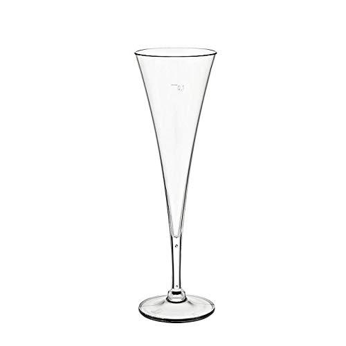 CRISTALICA Flûte à Champagne en Plastique Champagne Glass Collection Acrylique Acrylique 100 ml
