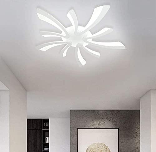 Lámpara de Techo LED de Montaje Empotrado, Panel acrílico LED de 45 W, candelabros de Techo Modernos, 5 Luces, Accesorios de lámpara de Techo Blancos fríos, luz de Techo Semi empotrada para