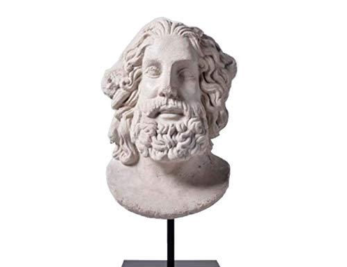 ADSE Escultura de Zeus, Estatua de Dios Griego, Busto de Resina, Piedra Arenisca, Modelo Artesanal, Regalos Decorativos
