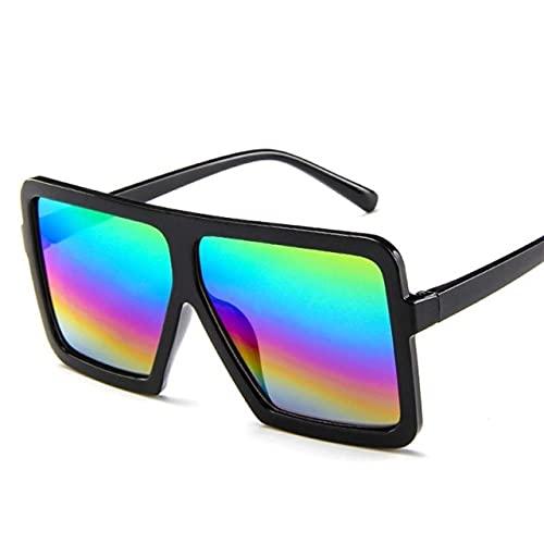 NBJSL Gafas de sol de montura grande para mujer, diseñador de lujo para hombre / mujer, gafas de sol cuadradas, clásicas, Vintage, UV400, gafas para exteriores