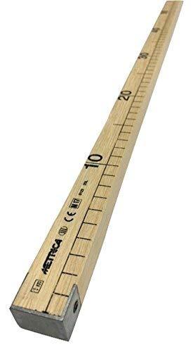 Liniaal, meetinstrument, metalen houten staaf voor kleermaker, professioneel, lengte 100 cm, 1 mt ideaal voor werk van maatwerk, patchwork, zelfgemaakt, om eenvoudig uw stoffen te meten.
