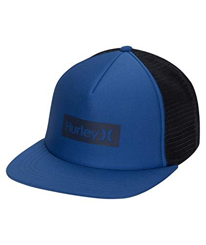 Hurley M O&O Square Trucker Hat Gorra, Hombre, Gym Blue, 1SIZE