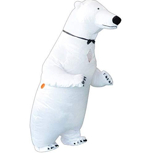 Ocobudbxw Bañera Inflable/Oso Polar Cosplay Trajes Adultos Fiesta de Navidad Disfraz Disfraz