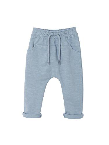 Vertbaudet - Pantalón de muletón para bebé, color liso azul claro 24 meses