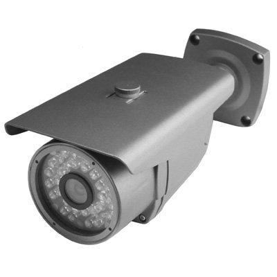 GJPAJGID Bewakingscamera, 1/3, Sony, kleur 500 TVL, waterdicht, IR, afstand: 30 m, Kleur: zwart.