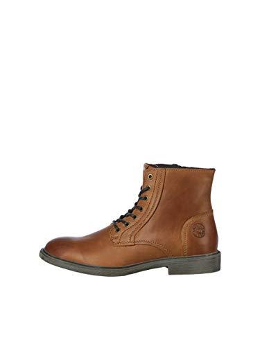 JACK & JONES JFWKARL Leather Boot Cognac LTN, Bottine Homme, 43 EU