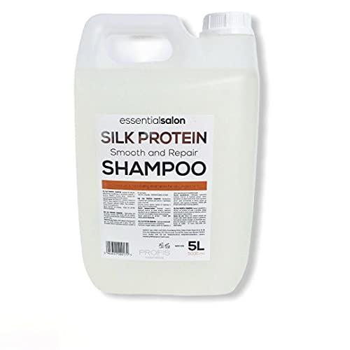 essentialsalon Champú de construcción con queratina y proteínas de seda sin siliconas, 5 litros