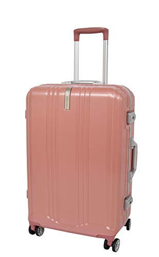 Medium Size 4 Wheels Check-in Luggage TSA Locks Metal Frame Suitcase Travel Bags A590 Rose Gold