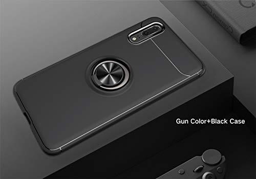 2Buyshop Huawei P20 P20 Pro Hülle Huawei P20 lite Schutzhülle, 360 Grad Drehbar Ringhalter Dünn Weich Hochwertigem Stoßfest Anti-Kratzer handyhülle Huawei P20 Pro Hülle (Schwarz, Huawei P20 Pro) - 2