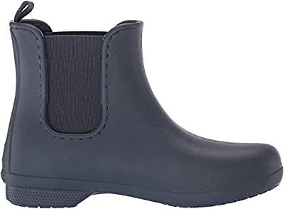 Crocs Women's Freesail Chelsea Ankle Rain Boots Water Shoes, Navy/Navy, 7 M US