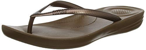 FitFlop Women's IQUSHION FLIP Flop-Solid, Bronze 8 M US
