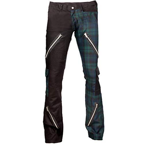 Black Pistol Jeans Hose - Freak Pants Grün Tartan 32