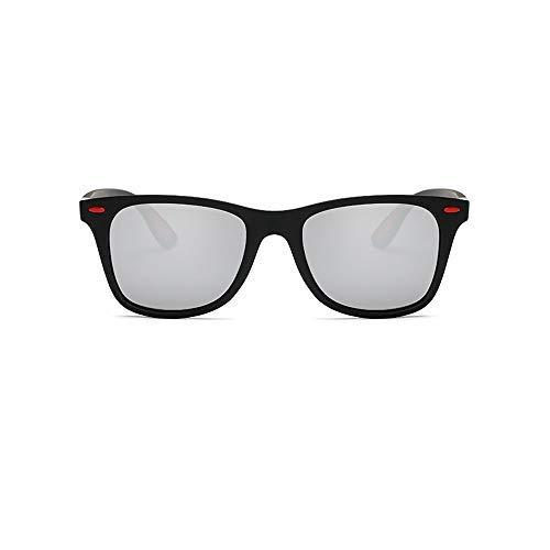 ZJN-JN - Gafas de sol polarizadas para hombre TR Gafas de sol de pesca, conducción al aire libre, ultraligeras (color: negro, tamaño: libre) (color: plata)