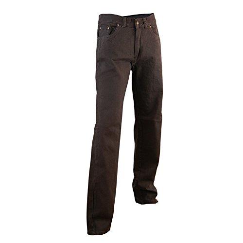 LMA 102604 Mexico Jeans de 6 Poches, Marron, Taille 40