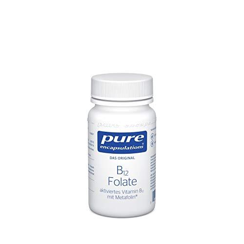 Pure Encapsulations - B12 Folate - Vitamin B12 und Folat (Metafolin) unterstützen die normale psychische Funktion - 90 vegane Kapseln