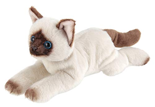 Bearington Lil' Cleo Small Plush Stuffed Animal Siamese Cat, 8 inches