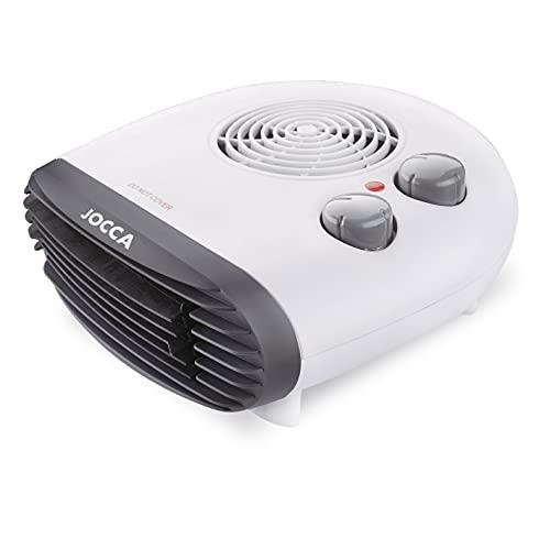 Jocca - Calefactor Eléctrico de aire caliente 2000W | Calefactor Estufas Baño | Función calor y ventilador | 2 velocidades | Antideslizante