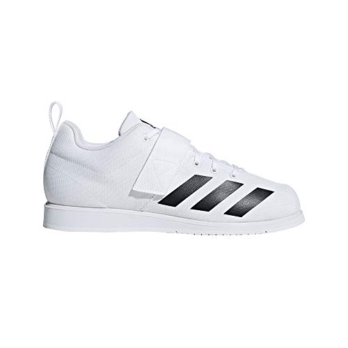 adidas Men's Powerlift 4 Weightlifting Shoe, White/Black/White, 9 M US