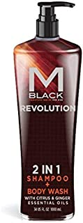 M.Black Signature Series 2 In 1 Shampoo + Body Wash With Citrus & Ginger Essential Oils - Scent: Revolution