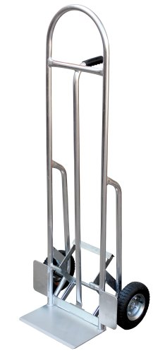 Vestil HBST-500 Aluminum High Back Hand Truck with Loop Handle, Pneumatic Wheels, 300 Lbs Load Capacity, par Vestil