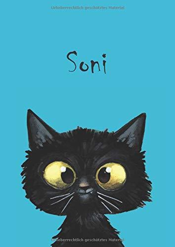 Soni: Katzen - Notizbuch / Malbuch - DIN A4 - blanko