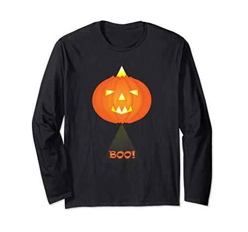 Boo! Halloween-Kürbislaterne als ausländischer Kürbis Langarmshirt