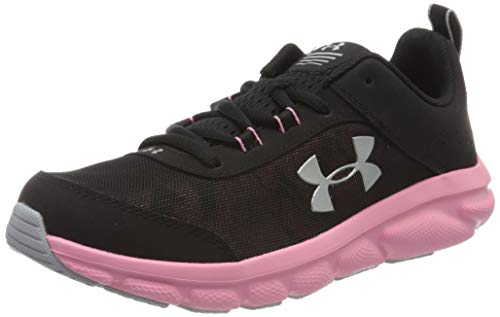 Under Armour Unisex-Youth Grade School Assert 8 Sneaker, Black (003)/Lipstick, 6.5