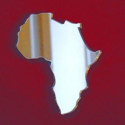 Servewell Africa Map - Specchio da parete, 45 x 41 cm