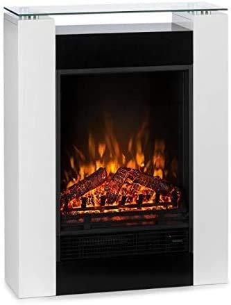 Chimenea del calentador y de gran realismo ilusión de llama para una sala de estar, dormitorio,White