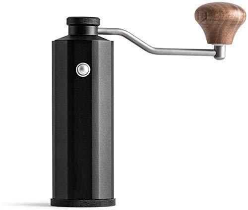 Los fabricantes de café de acero inoxidable manual molinillo de café cónico Burr molino de grano de la mano turca portátil prensa cerámica maíz Máquina de café ergonómico Rocker Diseño Negro espressos