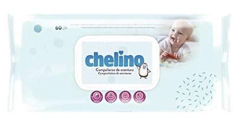 TOALLITAS CHELINO PACK DE 12 PAQUETES DE 60 TOALLITAS