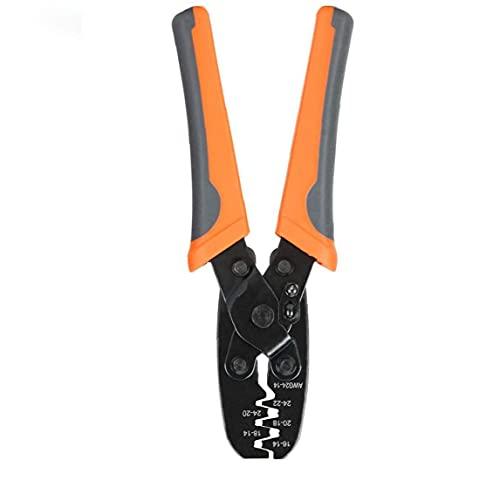 Herramienta que prensa Herramienta Crimpadora terminal de alicates de la abrazadera de cilindro abierto IWS-1424a para el sellado impermeable Conectores Orange, pinzas de electricista