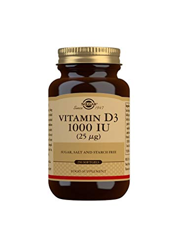 Solgar Vitamin D3 1000 IU (25 µg) Softgels - Pack of 250