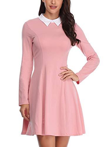 FENSACE Womens Moonrise Kingdom Cosplay Pink Dresses for Women