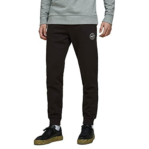 Jack & Jones Jjigordon Jjshark Sweat Pants Viy Noos Pantalones de Deporte, Negro (Negro Negro), W (Tamaño del Fabricante: M) para Hombre