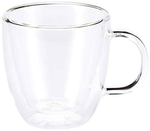 Bodum - 10602-10 - Bistro - Set de 2 Mugs Espresso en Verre Double Paroi avec Anse - 15 cl , Transparent