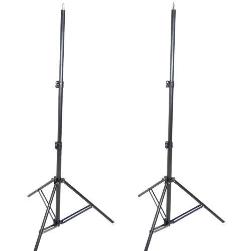 DynaSun W957 Cavalletto Stativo Professionale, Kit da 2 Pezzi, 250 cm, Ammortizzatori, Attacco Spigot Standard