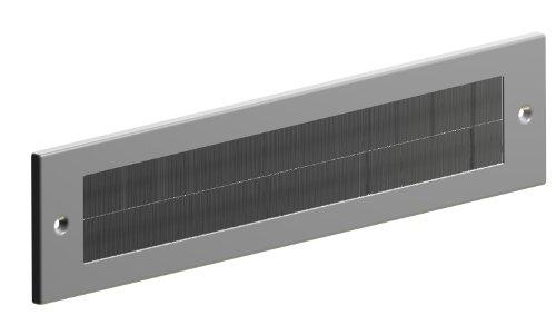STORMGUARD 06SR017000000A Briefkastenabdeckung Zugluftstopper für den Innenbereich - silberne Ausführung, Aluminium, 335mm x 75mm