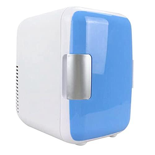 Mini 4L refrigerante y calefacción Refrigerador Maquillaje Cosmético Frigor de Doble Uso para el hogar Car Coche refrigeradores (Color Name : Camel)