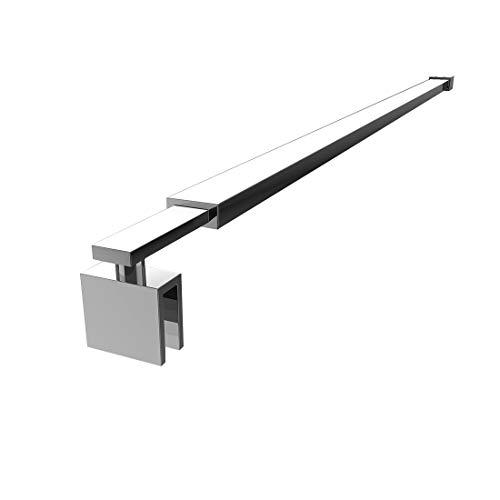 KOBEST Stützstange Stabilisator für Duschwand Glas zur Wand für Glasdicke 8-10 mm Wandhalterung Edelstahl Einstelllänge 700-1200 mm